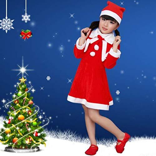 SDJYH, Disfraz de Terciopelo Dorado navideo, Ropa de Fiesta para nios, Ropa de Pap Noel, Traje para nios, Disfraces