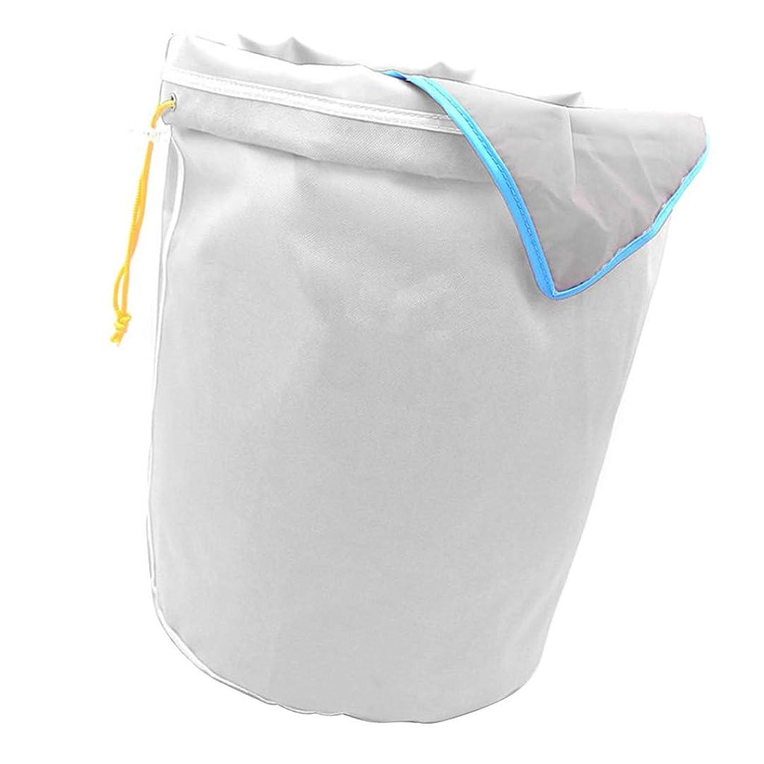 煩わしい孤独な行進植物滓 濾過袋 精華の抽出バック メッシュ袋 ハブ 果物 収穫袋 5ガロン 園芸用品 - ホワイト45ミクロン