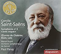 Sym, 3, : Paray / Detroit So M.dupre(Organ) +chabrier, Bizet, Lalo