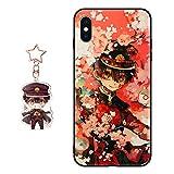 iPhone 5s / SE Case Toilet-Bound Hanako-kun Anime Figure Design [with Yugi Amane/Yahiro Nene Keychain], Soft Silicone Flexible TPU Cartoons Phone Case for iPhone 5s / SE