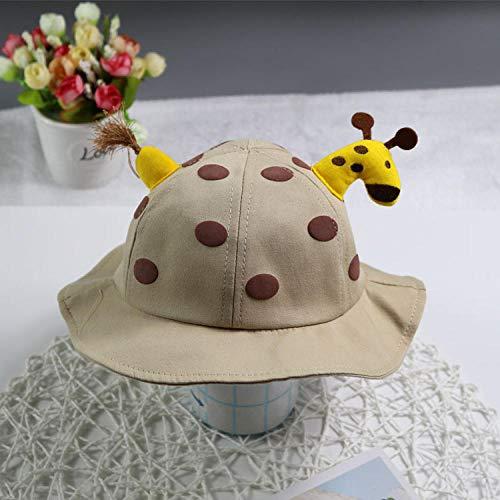 LIUKLAI Chapeau Mignon bébé Mignon bébé Girafe Ombre crème Solaire Chapeau de pêcheur pour Enfants marée-F_1