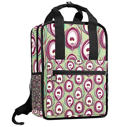 Mochila de senderismo para hombres para adolescentes, camping, niño, estudiante, bolso multiusos con diseño de pavo real