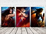 HD Print Oil Painting Home Decor Wall Art on Canvas Wonder Woman 3PCS (Unframed)