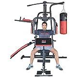 TrainHard Kraftstation Multistation Fitnessstation Home Gym 65 kg Gewichten inkl. Dipstation...