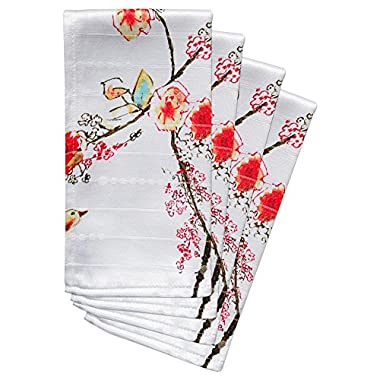 Lenox Chirp Print, Pack of 4 Napkins, Multi