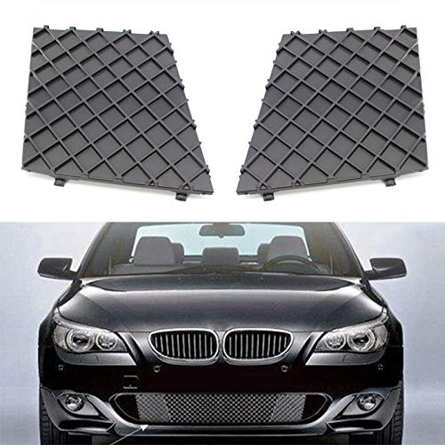 JNSMQC 2 stuks Front L/R Roosters Bumper Cover Onderste Mesh Grille Grill Trim.Voor BMW E60 E61 M Sport Grille Cover voorbumper Decoratie