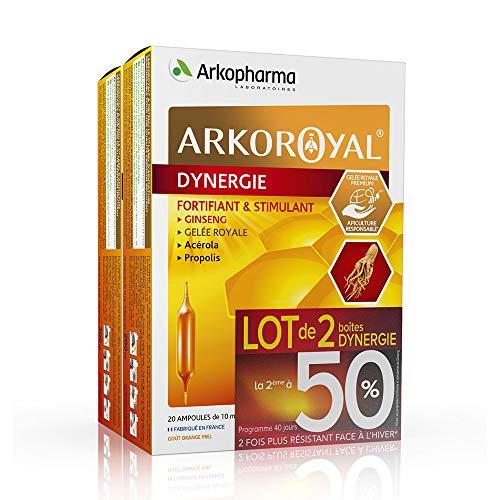 Arkopharma - Arkoroyal Dynergie, complesso stimolante, confezione da 2 x 20 fialette