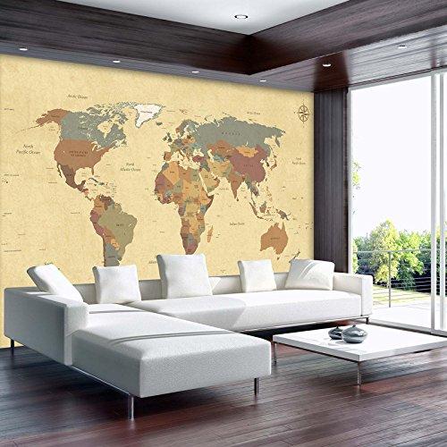 AMD10973_P, decoratieve shop, fotobehang, wereldkaart, reizen en ruimte, landkaart, modern, wanddecoratie, muurbehang, muurdecoratie