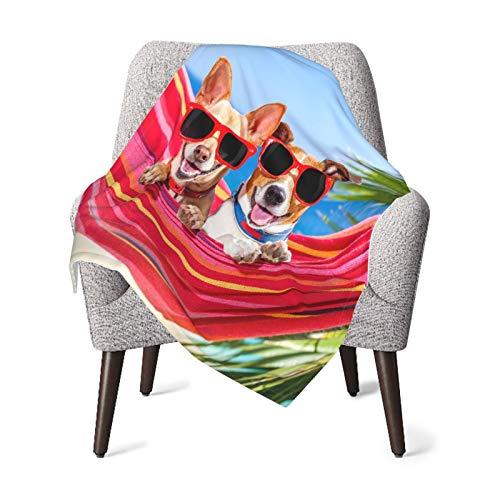 BJHAP Baby Blanket Dogs Hammock Summer Beach Soft Receiving Blanket Printed Blanket 30 x 40 Inch