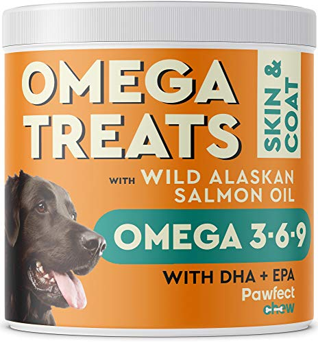 PawfectCHEW Fish Oil Omega 3 for Dogs - Allergy Relief - Joint Health - Itch...