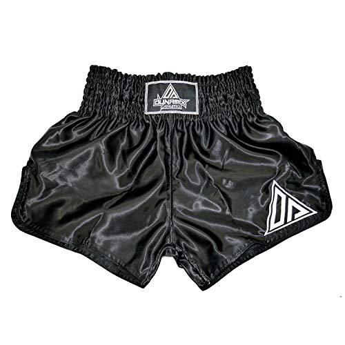 Dynamix Athletics Muay Thai Shorts Origin Schwarz/Weiß - Traditionelle Klassische Thaibox Hose für Herren (M)