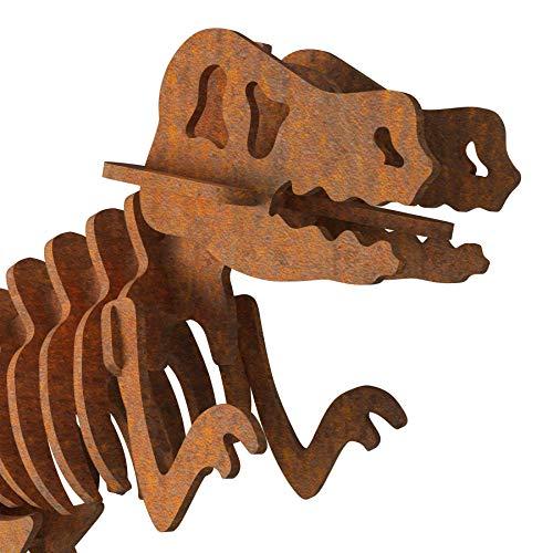 Metzler Edel-Rost Dino Tyrannosaurus Rex Dinosaurier Garten Deko Statue Skulptur COR-Ten-Stahl Cortenstahl
