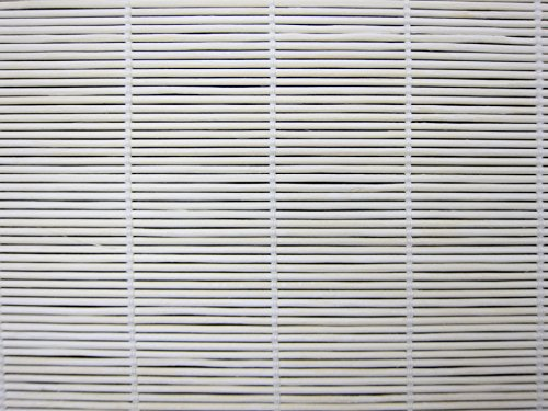 Cordless Woven Wood Roman Shades, 24W x 48H, Bayhead White, Any Size 20-72 Wide and 24-72 High