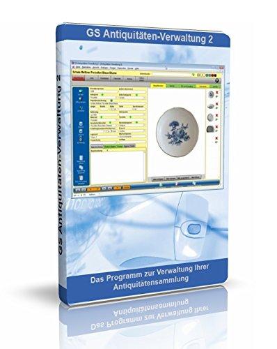 GS Antiquitäten-Verwaltung 2 - Software zur Verwaltung von Antiquitäten - Datenbank Programm zur Antiquitätenverwaltung