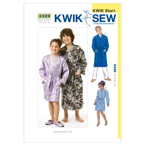 Kwik Sew K3329 Robes Sewing Pattern, Size XS-S-M-L-XL
