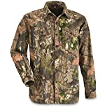 Guide Gear Camo Shirts for Men, Button Up Shirts Long Sleeve Camouflage for Hunting, Mossy Oak Country Camo, Large