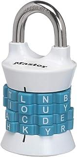 Master Lock 1535DWD Locker Lock Set Your Own Word Combination Padlock, 1 Pack, Assorted Colors