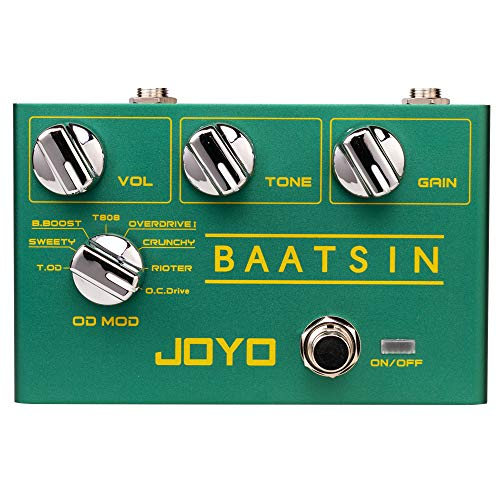 JOYO R-11 Baatsin Distortion and Overdrive Pedal Multi Effect Pedal Analog Circuit with 8 Different OD/DS Effects