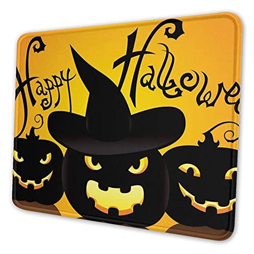 Gaming Mauspad, Happy Halloween Kürbis Laterne rutschfeste Gummi Mausmatte Rechteck Super Mauspad für Laptop Arbeit waschbar Schreibtisch Schreibblock