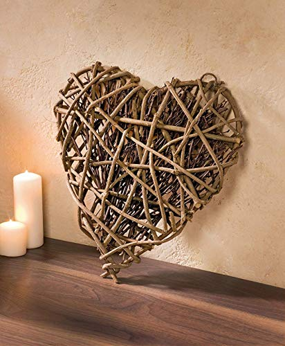 großes Herz aus Rebenholz & Reisig, Ø 40cm, Flechtherz, Dekohänger, Dekohänger