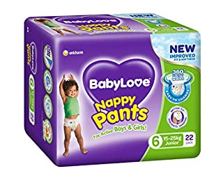 BabyLove Junior Nappy Pants 15-25kg (22 pack x 3, 66 Total) (B077K6YCS7) | Amazon price tracker / tracking, Amazon price history charts, Amazon price watches, Amazon price drop alerts