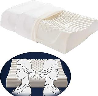 Mchuxin Almohadas Suaves Almohada de Espuma de látex Almohada de látex con Forma de Onda Almohada de Soporte para el Cuello - Antialérgico - Natural - Ultra Transpirable - Sueño Saludable (1PC)