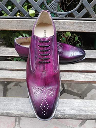 Handmade Purple Patina Men's Dress Lace