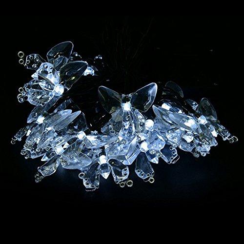 30 Led Lichterkette Schmetterling Lichterketten Solar Weihnachtsfeier Garten Lauflichter Sternenlichterkette Weihnachtsschnur Lichter String Lampe Wasserdicht Warmweiß Dekoration