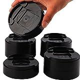 Uping Elevador de Muebles, Elevadores Ajustables para Camas, Mesas o Mobiliario (8 Pack, Negro)