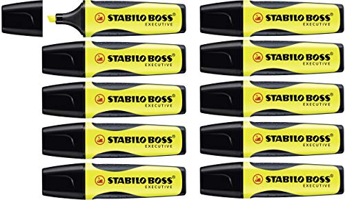 STABILO BOSS EXECUTIVE Evidenziatore colore Giallo - Confezione da 10