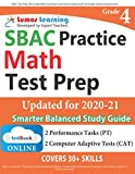 SBAC Test Prep: 4th Grade Math Common Core Practice Book and Full-length Online Assessments: Smarter Balanced Study Guide With Performance Task (PT) and Computer Adaptive Testing (CAT)