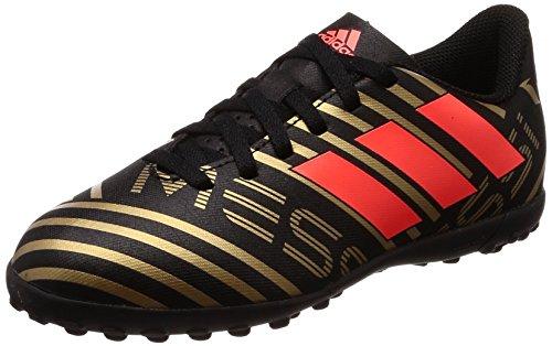 Adidas Nemeziz Messi Tango 17.4 TF J, Botas de fútbol Unisex niños, Negro (Negbas/Rojsol/Ormetr 000), 31 EU