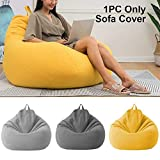 KOET Bean Bag Chairs Sofa Cover, Cotton Linen Recliner Bean Bag Without Filler for Children & Adults...