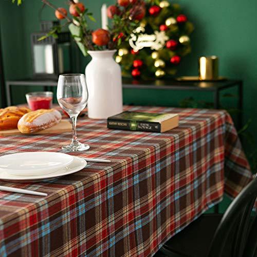 Amzali Classic Checkered Plaid Tablecloth Gingham Check...