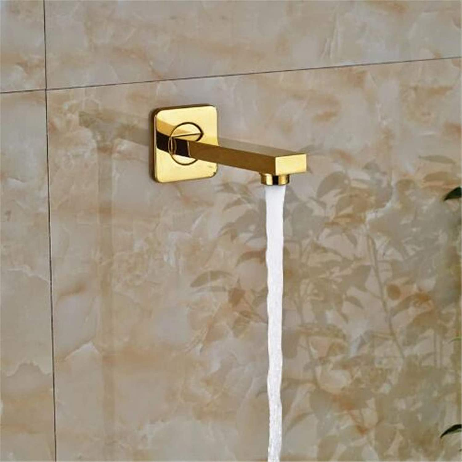 Oudan Faucet Basin Faucet Kitchen Faucet Bathroom Faucetgolden Brass Faucet Accessory Shower Faucet Tub Spout Tub Filler (color   -, Size   -)