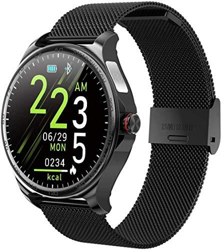 Smart Watch 1 3 pulgadas de alta definición táctil Ips pantalla a color entrante mensaje recordatorio de llamada Bluetooth llamada para Android y iOS acero negro