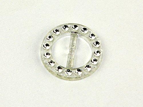 Fermoir à boucle diamanté 32 mm fermeture Éclair Transparent/argenté