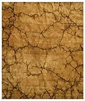 EORC KA100BN Handmade Wool Dip Dyed Rug, 4ft x 6ft, Brown 商品カテゴリー: ラグ カーペット [並行輸入品]