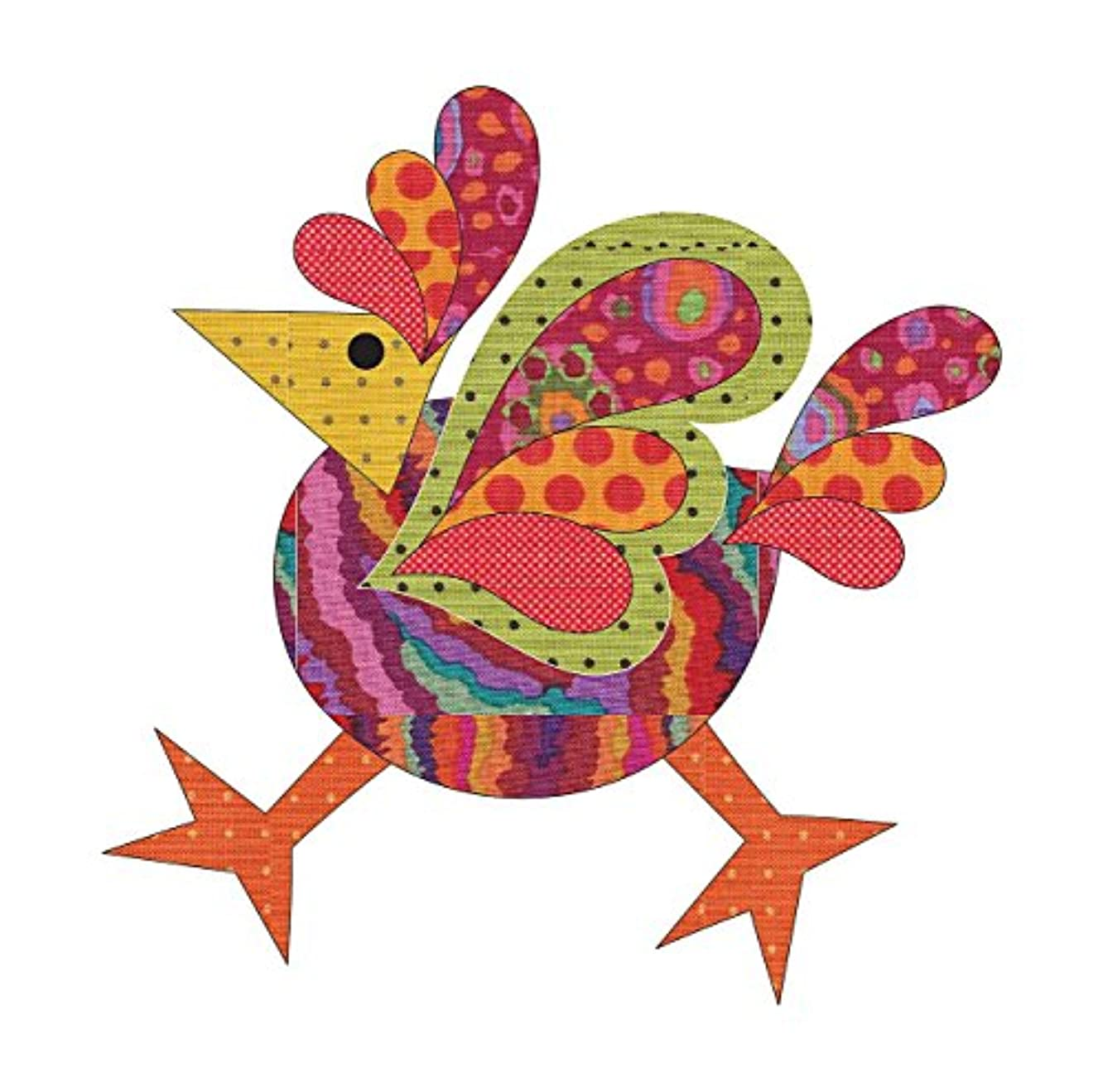 Quilting Creations Laser Cut Fusible Funky Chicken 4 Small Dotz Applique