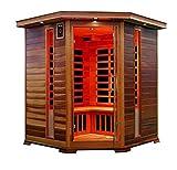 XXL Luxus LED Infrarotsauna Infrarotkabine Wärmekabine Sauna +Radio USB MP3.inkl. Speditionslieferung