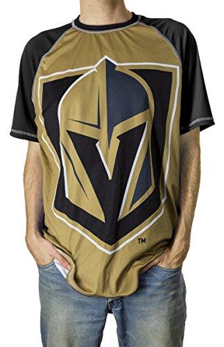 NHL Men's Official Team Performance Short-Sleeve Rash Guard (Medium, Vegas Golden Knights)