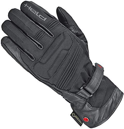 Held Motorradhandschuhe lang Motorrad Handschuh Satu II Gore-Tex® Handschuh schwarz 13, Herren, Tourer, Ganzjährig, Leder/Textil