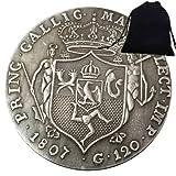 SeTing Moneda de 1807 del antiguo Imperio Romano Caballero Italia - Moneda Hobo Nickel Europe Challenges Monedas Italia Moneda + KaiKBax Bolsa - Moneda Mundial para Amigos Servicio Permanente