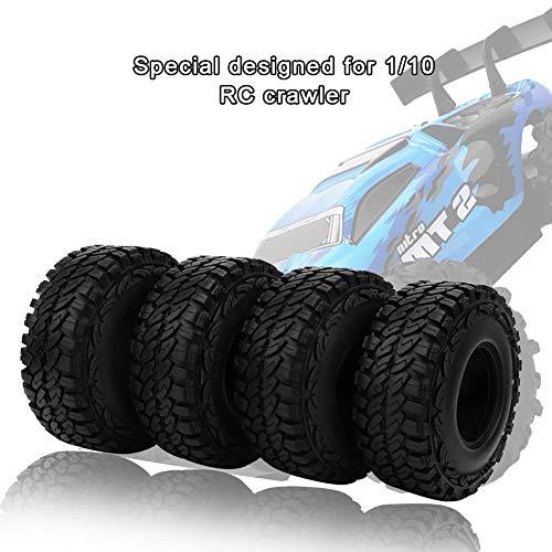 Dilwe RC Reifen, 1/10 RC Crawler RC Reifen mit Sponge Liner Kompatibel mit RD90 SCX10 CC01 RC Auto(46mm)