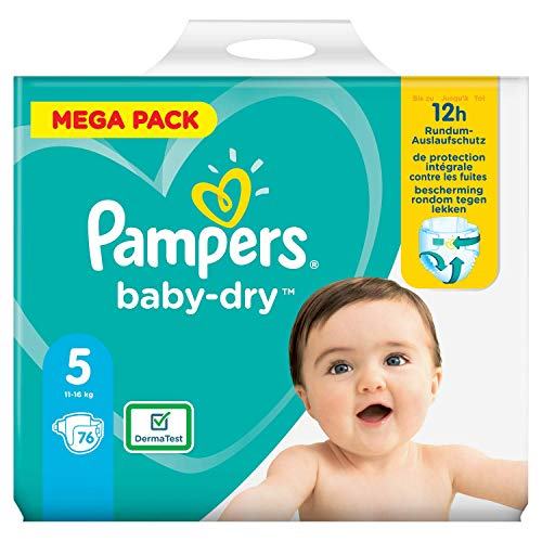 Pampers 81715587 Baby-Dry Pants Windeln, weiß, 2.23 kg