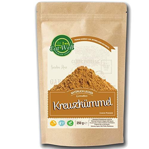 Kreuzkümmel (250g) • Kumin Gewürz gemahlen • Cumin Pulver Kumin Gewürz I mit starkem Aroma und authentischem Geschmack I Eat Well Premium Foods