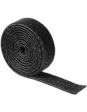 Hama Dubbelzijdig klittenband (1 m, 100 x 1,9 cm, universele klittenbandband, naar wens op maat te snijden, voor gebruik als kabelbinder, voor naaien, knutselen, enz.) zwart