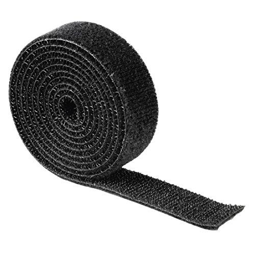 Hama doppelseitiges Klettband (1m, 100 x 1,9 cm, universal Klett-Band, beliebig zuschneidbar, zur Verwendung als Kabelbinder, zum Nähen, Basteln, etc.) schwarz