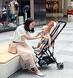 Cochecito De Bebé, Cochecito De Bebé Ligero 2 En 1, Sistema De Viaje, Cochecito Plegable y Convertible, Adecuado para Recién Nacidos De 0 a 36 Meses, (Color: Rosa)