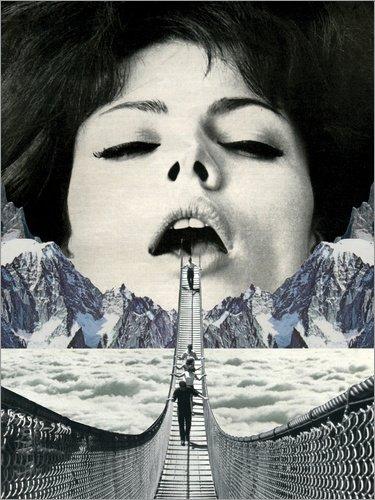 Posterlounge Leinwandbild 70 x 90 cm: Great Escape von Sammy Slabbinck - fertiges Wandbild, Bild auf Keilrahmen, Fertigbild auf echter Leinwand, Leinwanddruck